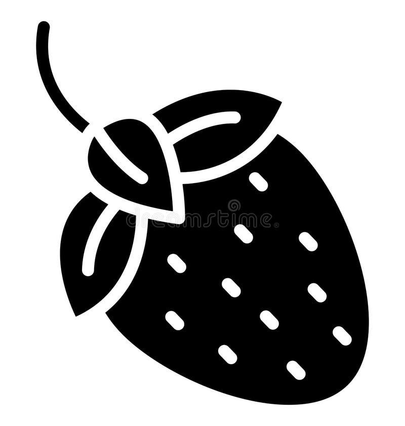 la fresa, el icono aislado baya que puede ser modificado o corregir fácilmente en cualquier fresa del estilo, baya del vector ais ilustración del vector