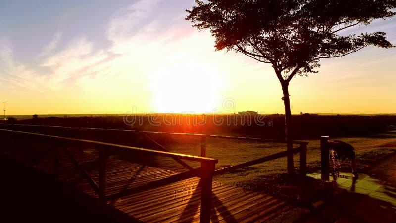 La Frontera-Andalucía de de la puesta del sol-Conil foto de archivo