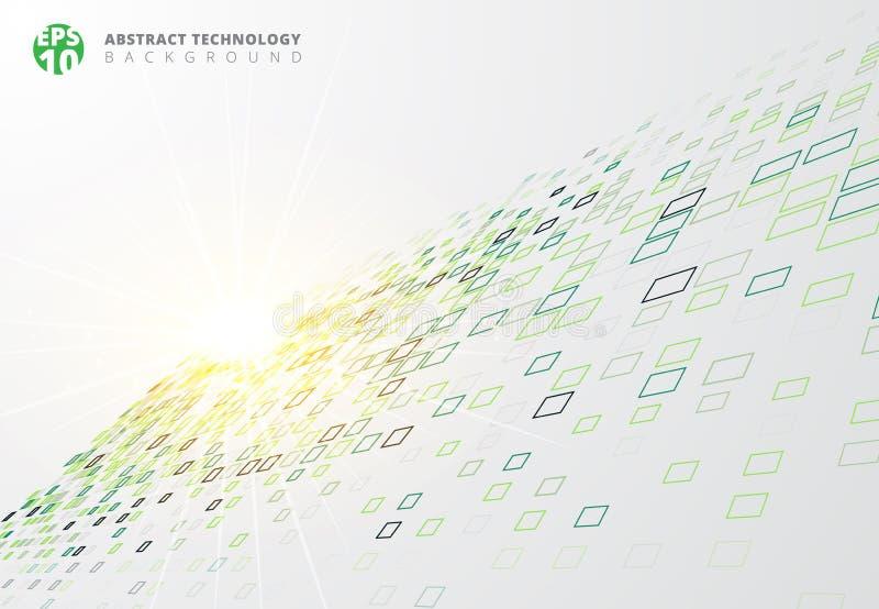 La frontera azul del fondo abstracto de la tecnología ajusta el persp del modelo stock de ilustración