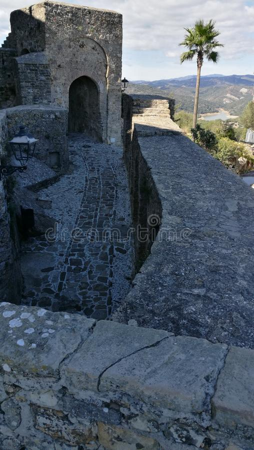 La Frontera - Castillo extérieur de Castellar De photos libres de droits
