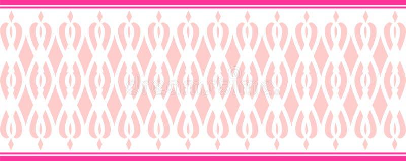 La frontera decorativa elegante compuso de varios colores rosados ilustración del vector