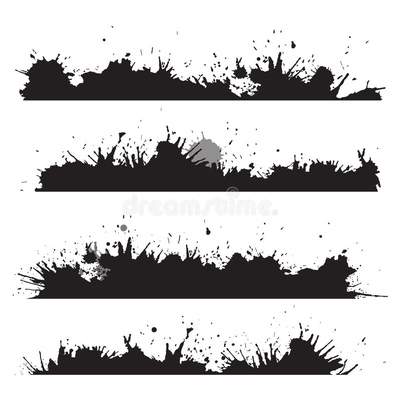 La frontera del Grunge con salpica y cae libre illustration
