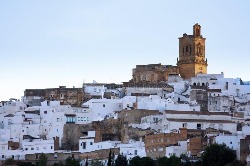La Frontera - vue d'Arcos de de la ville images libres de droits