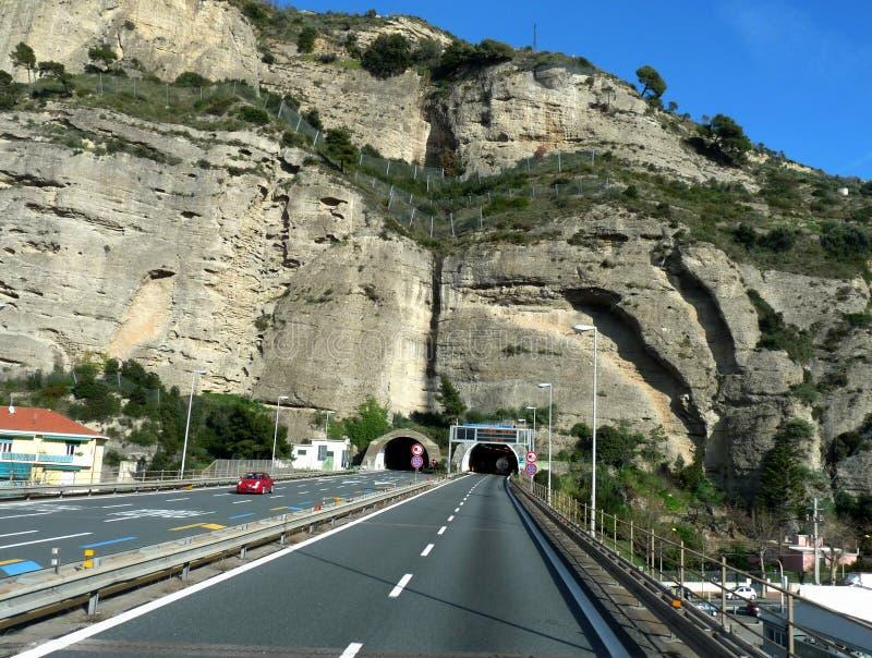 La frontière de l'Italie et des Frances photos libres de droits