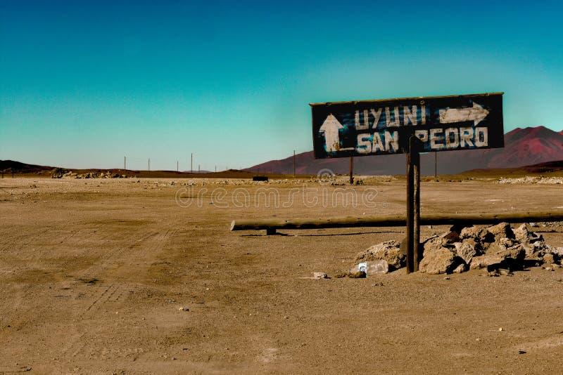 La frontière de la Piment-Bolivie sur 12 niveau de la mer ci-dessus de 000ft images stock