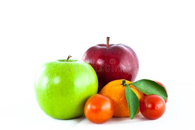 La frutta della miscela ha isolato fotografia stock