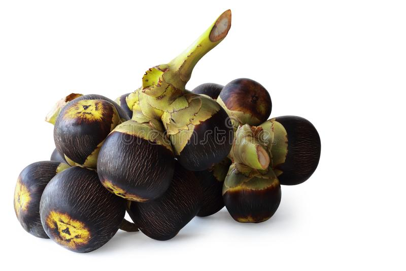 La frutta di Sugarpalm ha isolato sopra con il percorso fotografia stock