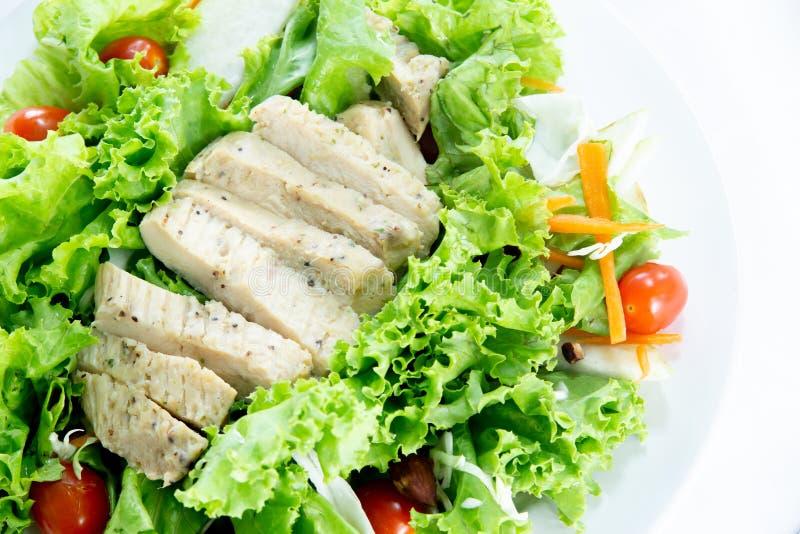 La frutta di vista superiore la verdura sane e pulite del preparato dell'alimento e, miscela sana del cibo dell'insalata degli or fotografie stock libere da diritti