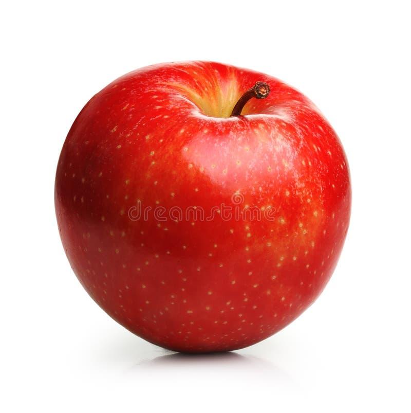 La frutta rossa del Apple ha isolato immagine stock libera da diritti