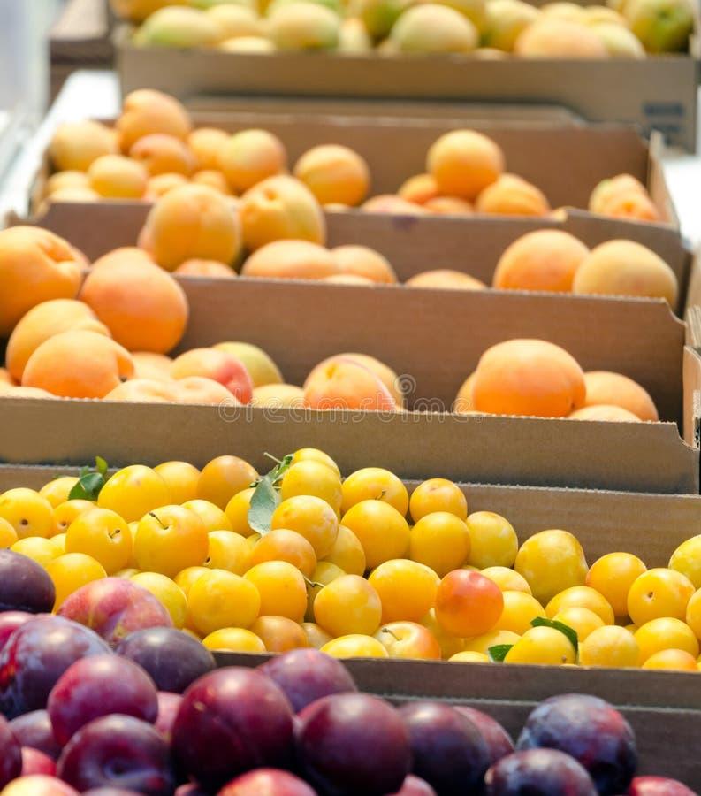 La frutta sta al mercato dell'agricoltore in Redmond Town Center fotografie stock libere da diritti
