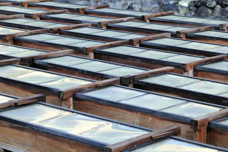 La fuente de aguas termales foto de archivo libre de regalías