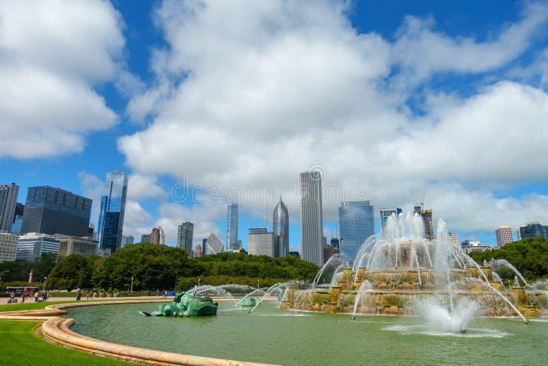 La fuente de Buckingham es una Chicago fotos de archivo libres de regalías