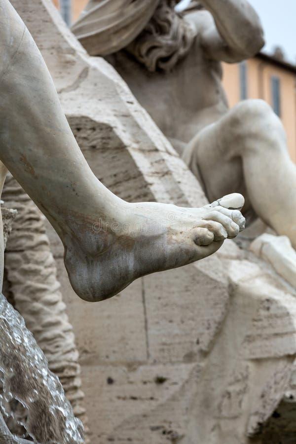 La fuente de los cuatro ríos - plaza Navona, Roma fotografía de archivo libre de regalías