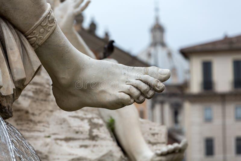 La fuente de los cuatro ríos - plaza Navona, Roma fotos de archivo libres de regalías