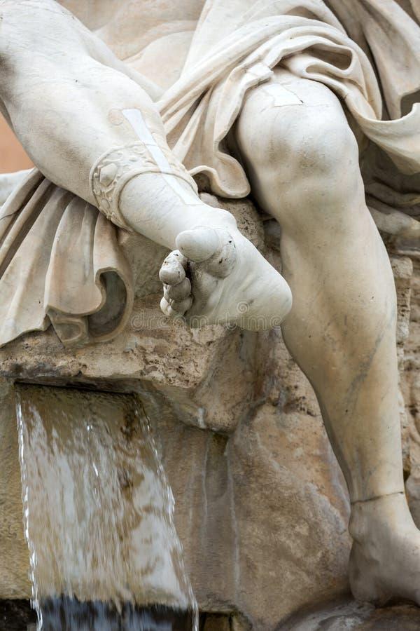 La fuente de los cuatro ríos - plaza Navona, Roma fotografía de archivo