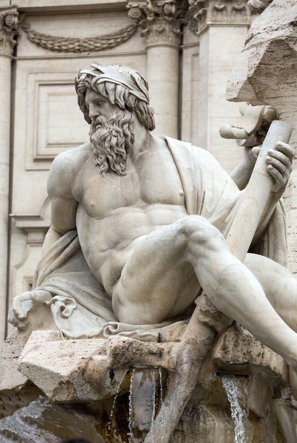 La fuente de los cuatro ríos - plaza Navona, Roma imagen de archivo