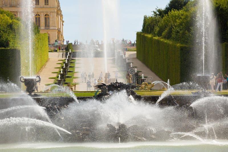 La fuente de Neptuno de Versalles imagenes de archivo