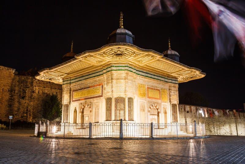 La fuente de Sultan Ahmed III imagen de archivo