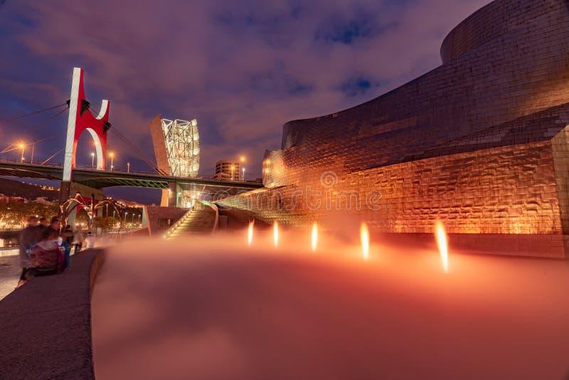 La fuente del fuego de Guggenheim foto de archivo