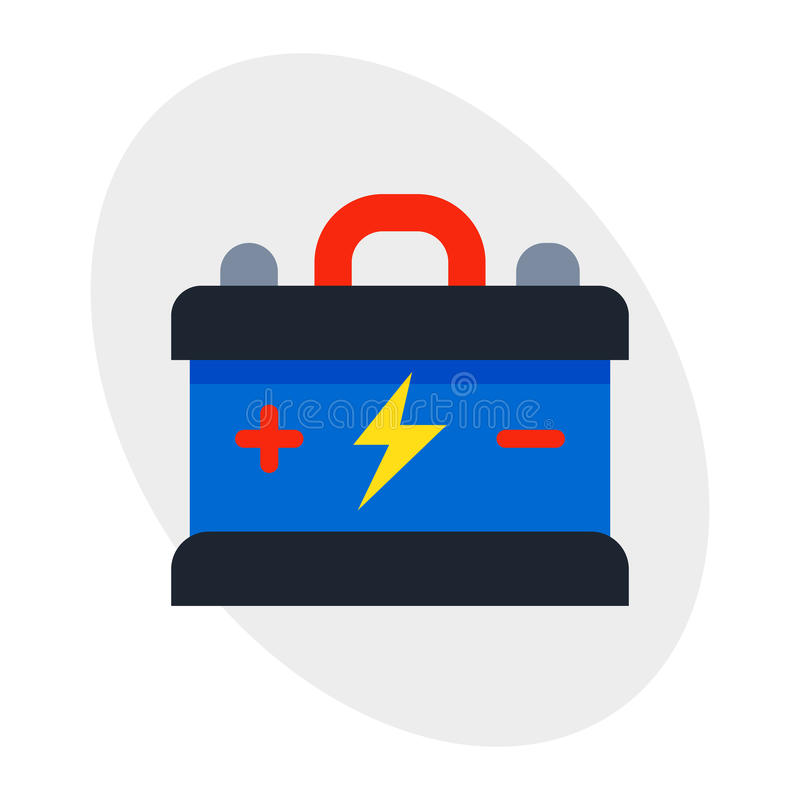 La fuente eléctrica de las piezas de automóvil alcalinas del coche del poder de la energía de la batería del acumulador y de la e libre illustration