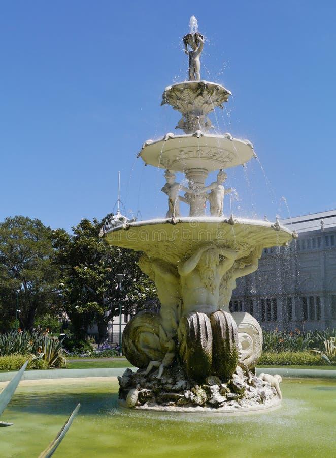 La fuente en Carlton cultiva un huerto parque imágenes de archivo libres de regalías