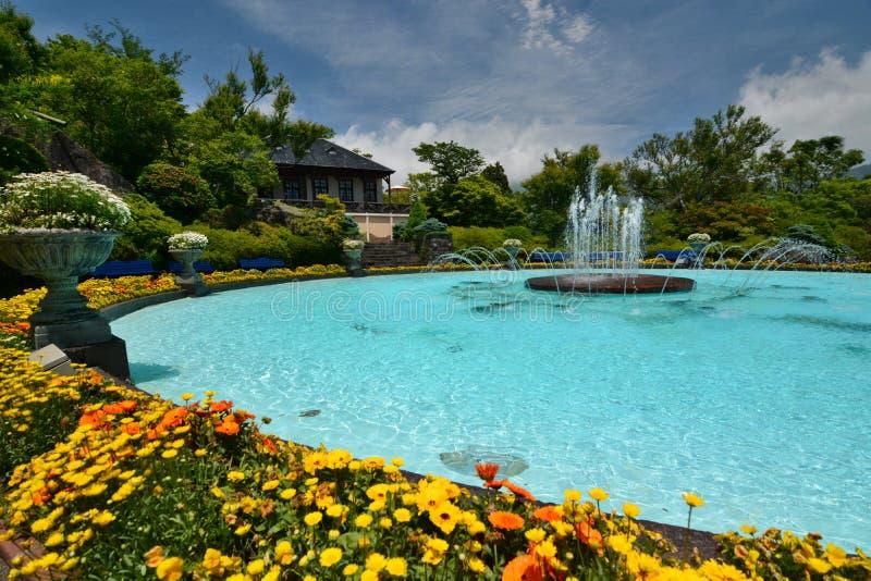 La fuente Gora Park Gora Hakone, Kanagawa japón imagen de archivo libre de regalías
