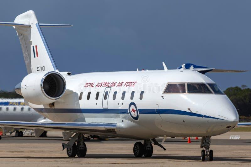 La fuerza aérea australiana real RAAF Bombardier Challenger 604 aviones del VIP actuó por la escuadrilla 34 fotos de archivo