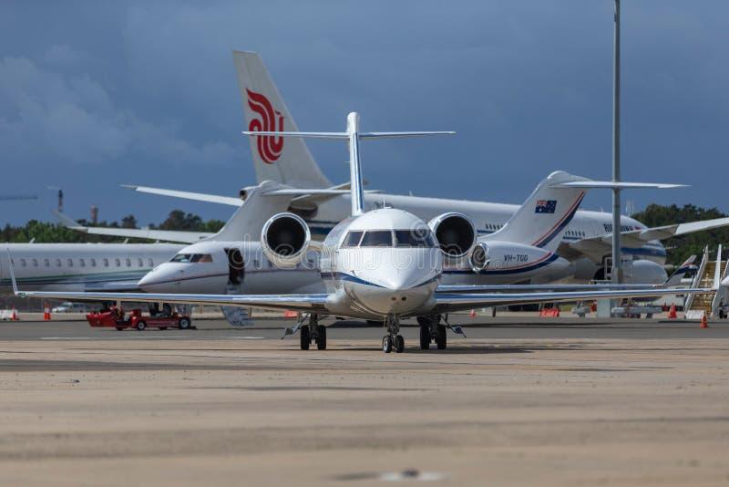 La fuerza aérea australiana real RAAF Bombardier Challenger 604 aviones del VIP actuó por la escuadrilla 34 foto de archivo
