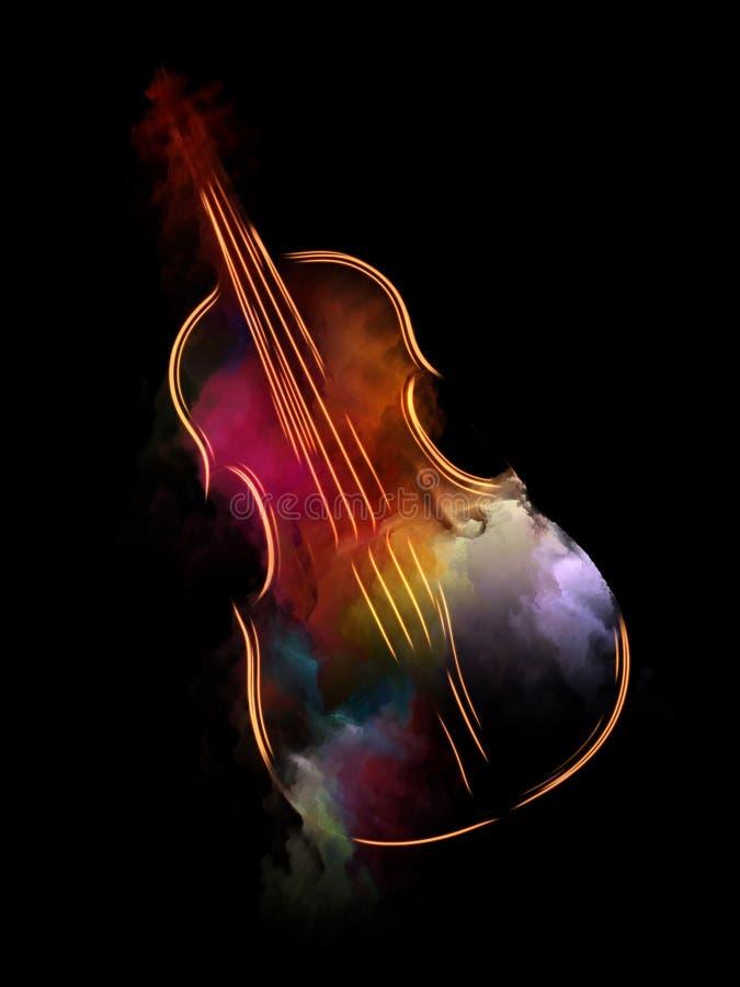 La fuga del violino illustrazione di stock