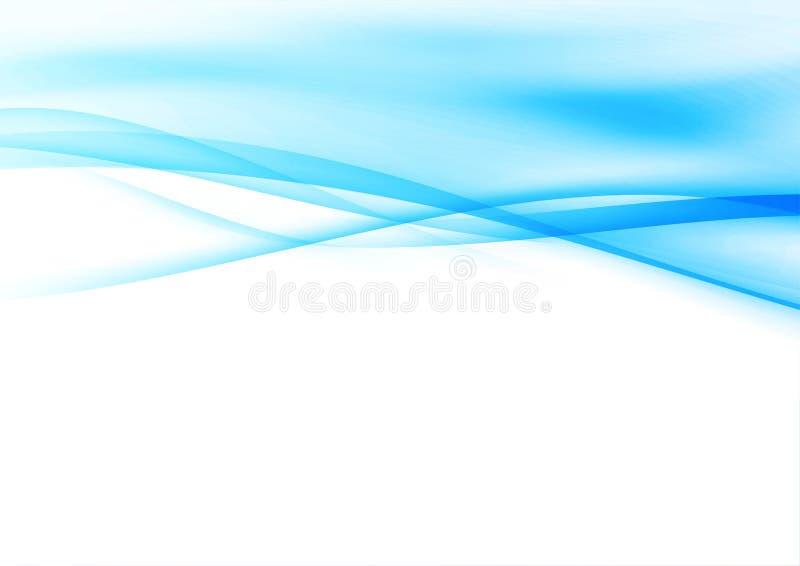 La fumée liquide molle bleue raye la conception de pointe illustration stock