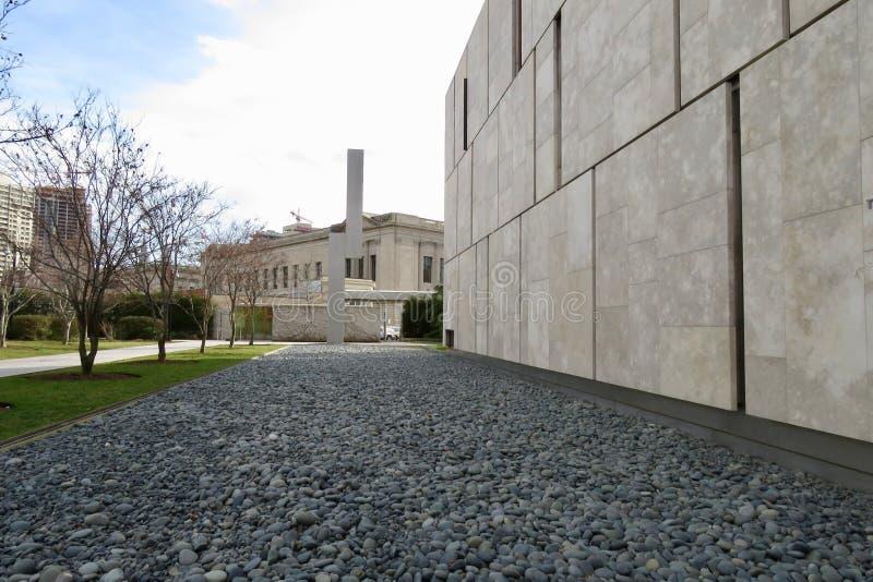 La fundación de Barnes con la escultura imagenes de archivo