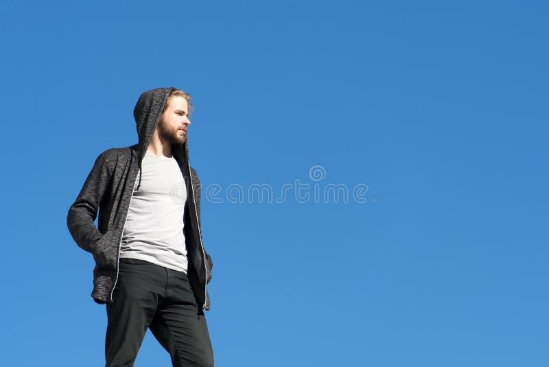 La future vie et perspective, mode masculine, concept d'été photos libres de droits