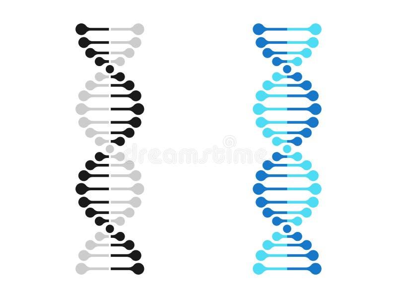 La génétique de chromosome d'icône d'ADN dirige la molécule de gène d'ADN illustration stock