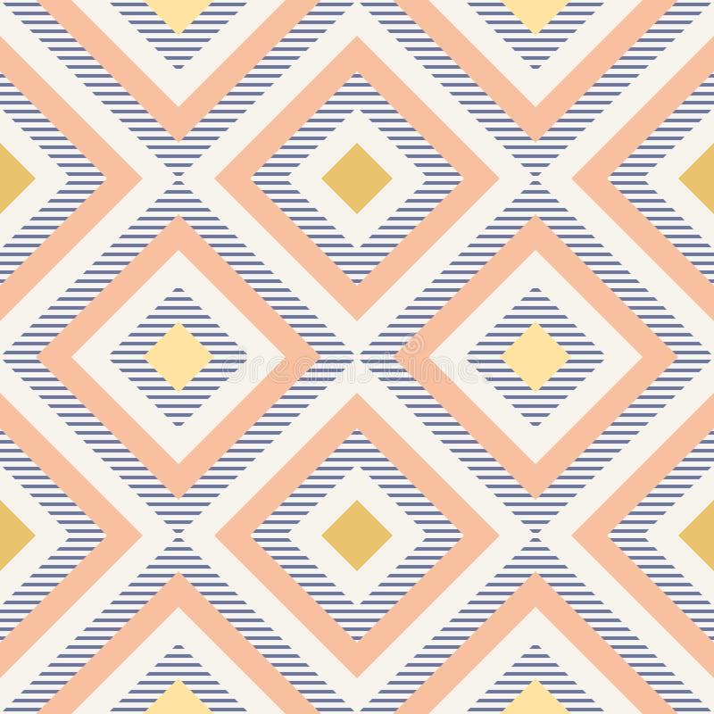 La géométrie abstraite dans de rétros couleurs, modèle de geo de formes de diamant illustration de vecteur