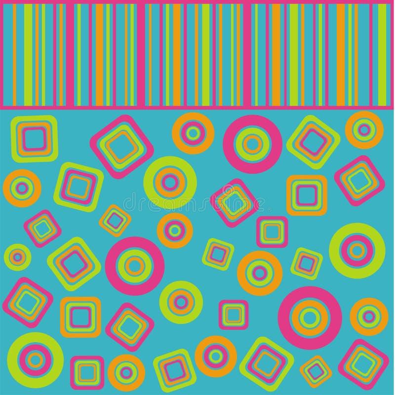 La géométrie de couleur illustration stock