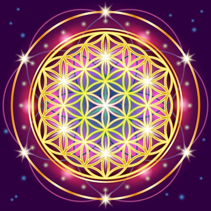 La géométrie sacrée illustration de vecteur