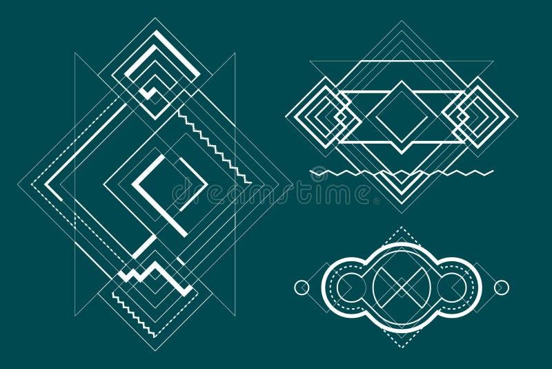 La géométrie sacrée, d'alchimie et d'espace illustration libre de droits
