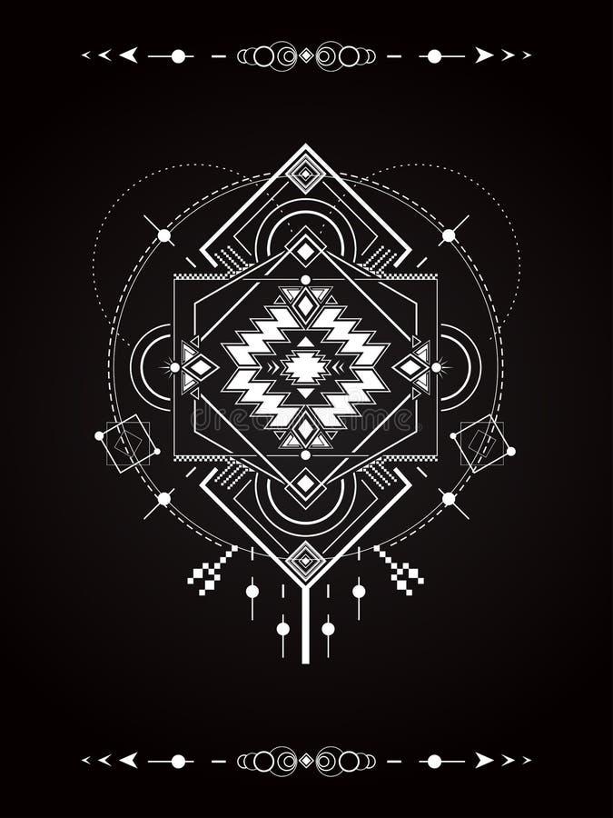 La géométrie sacrée de magie illustration libre de droits