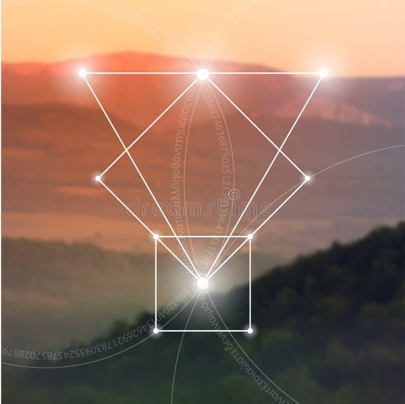 La géométrie sacrée Mathématiques, nature, et spiritualité en nature La formule de la nature illustration libre de droits