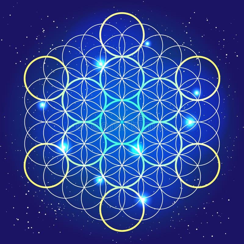 La géométrie sacrée Ronds cosmiques dans le ciel photographie stock