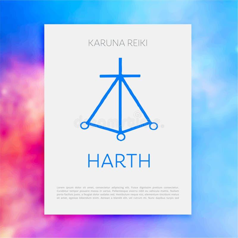 La géométrie sacrée Symbole de Reiki images libres de droits
