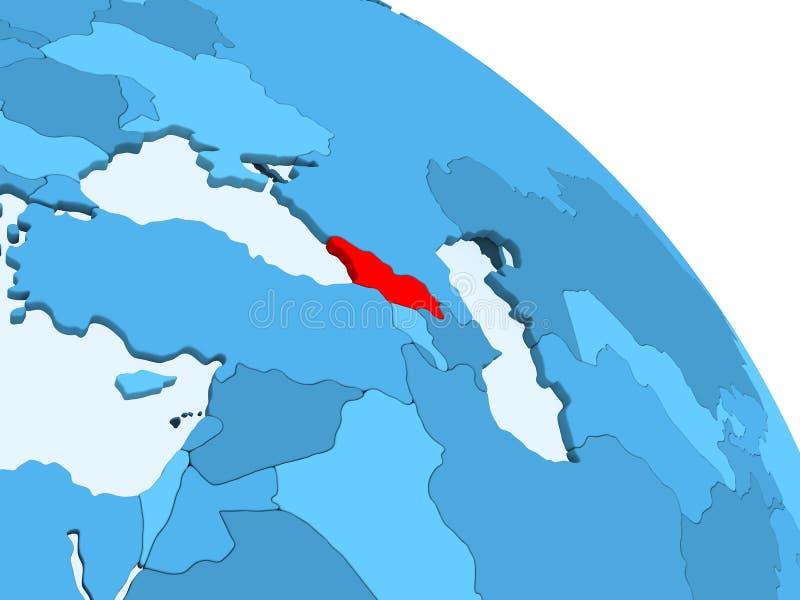 La Géorgie sur le globe bleu illustration stock