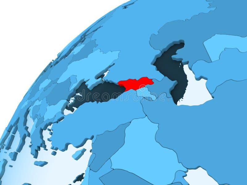 La Géorgie sur le globe bleu illustration libre de droits