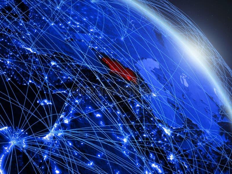 La Géorgie sur le globe numérique bleu bleu illustration de vecteur