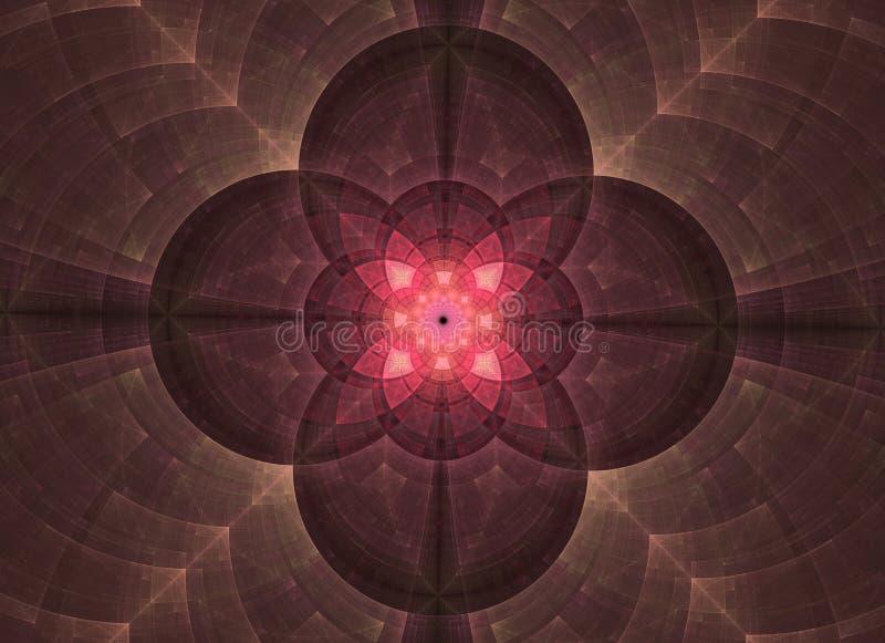 La g?om?trie sacr?e d'abr?g? sur kal?idoscope Illustration ethnique de fractale illustration de vecteur