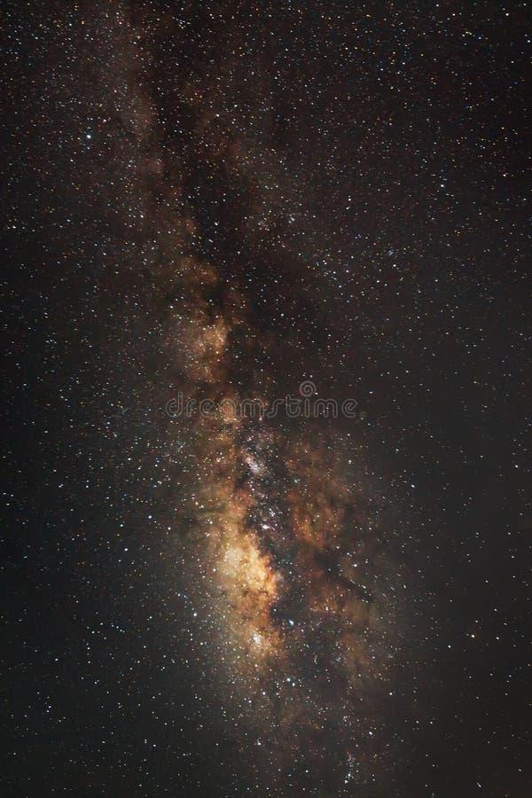 La galaxie de manière laiteuse de panorama, longue photographie d'exposition photos libres de droits