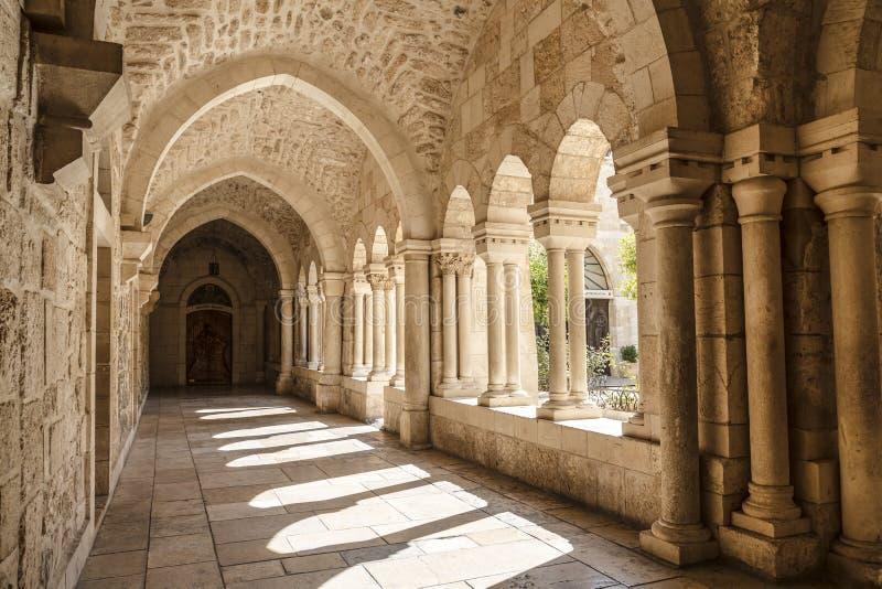 La galería de la iglesia de la natividad imagenes de archivo