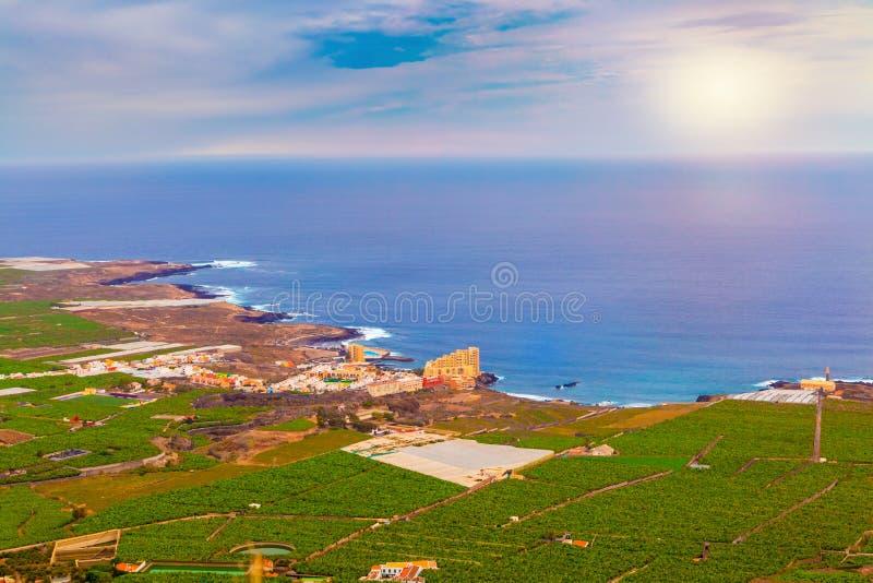 La-Galera-Küstenlinie von Garachico-Region, in Teneriffa lizenzfreie stockfotografie