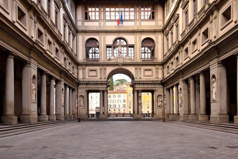 La galerie d'Uffizi à Florence photos stock
