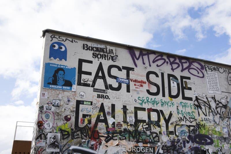 La galerie de côté est à Berlin images libres de droits